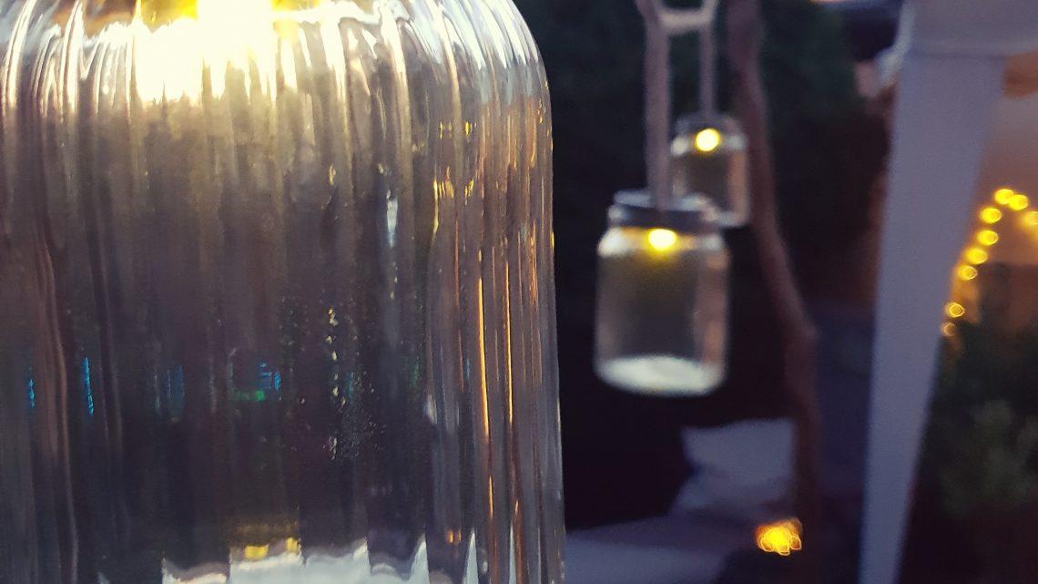 es werde Licht….Gartendeko selbstgemacht